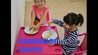 Crepes Recipe with Hanna and Mia