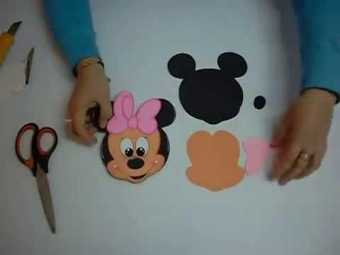DIY Minnie Mouse Gorra en Foami, Goma Eva (1ra Parte) Easy Crafts ...