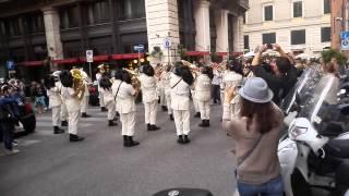 Bersaglieri a Roma, fontana di trevi, 2015