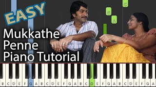 Mukkathe Penne BGM Piano Tutorial Notes & MIDI | Ennu Ninte Moideen | Malayalam