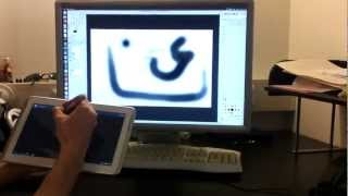 Using an Android tablet to paint in GIMP [like a real graphics tablet]