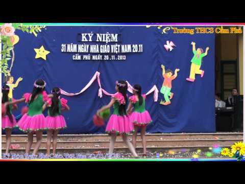 Múa Chắp cánh ước mơ 20 11 2013 THCS Cẩm Phú