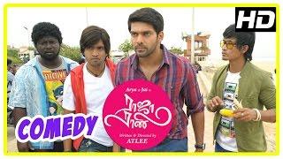 Repeat youtube video Raja Rani Tamil Movie Comedy Scenes | Part 2 | Arya | Santhanam | Nayanthara | Nazriya | Jai | Atlee