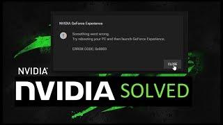 nvidia geforce experience something went wrong