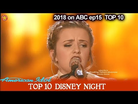 "Maddie Poppe sings ""The Bare Necessities"" The Jungle Book Disney Night American Idol 2018 Top 10"