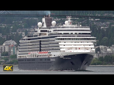 NIEUW AMSTERDAM cruise ship arriving at the Port of Vancouver 🇨🇦