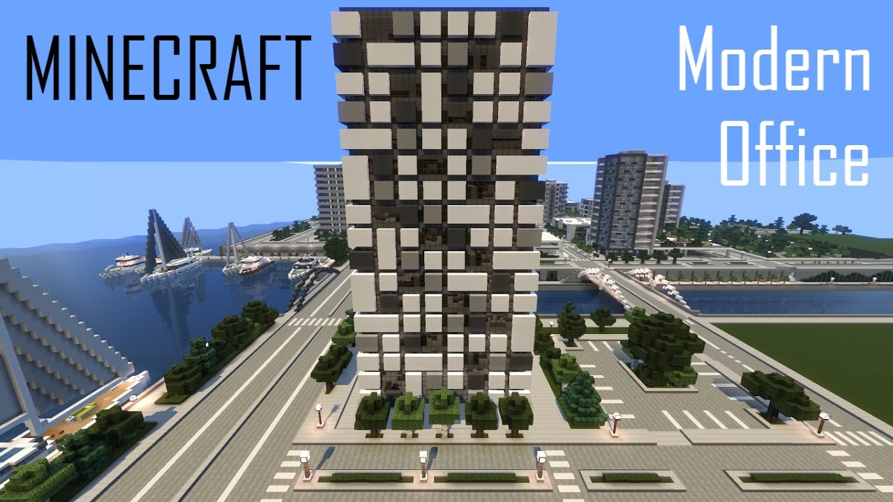 Minecraft Modern Office Building 3 Full Interior Download
