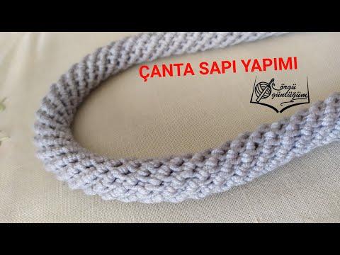 Örgü Çanta Sapı💯 Kordon çanta sapı 💯 Örgü çanta sapı örme 💯Crochet spiral rope