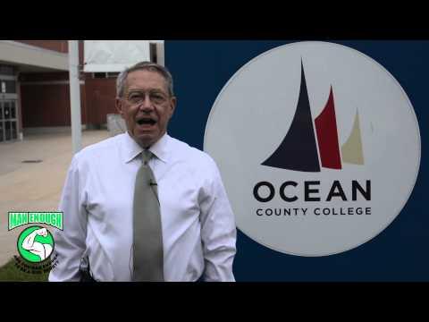 Ocean County College President Dr. Jon Larson is Man Enough