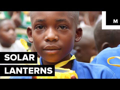 Artist is Making Solar Lanterns for Kids Without Electricity