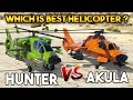 GTA ONLINE : AKULA VS HUNTER ( WHICH IS BEST ? )