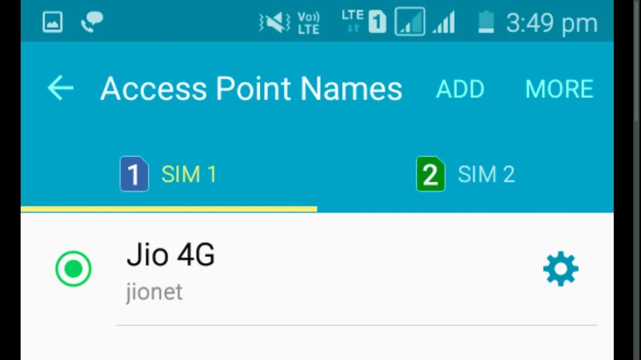 jio net setting for high speed