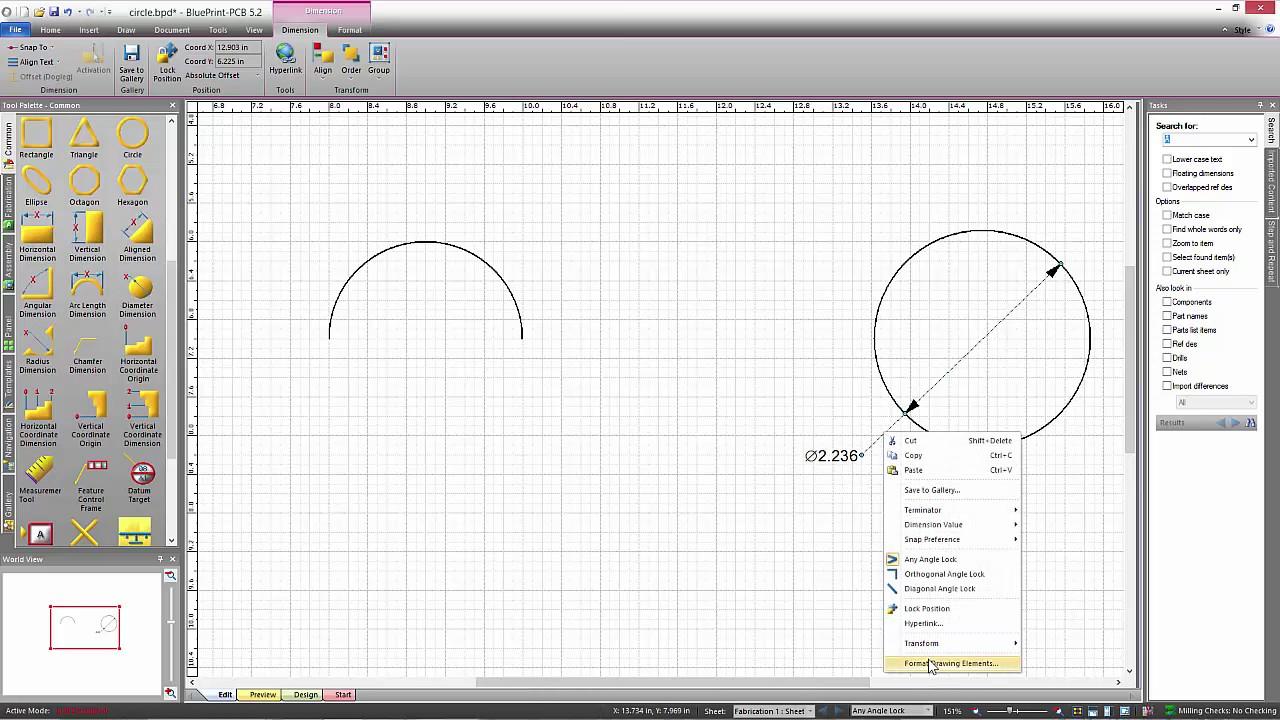 Radius and Diameter Dimensions in BluePrint PCB - YouTube