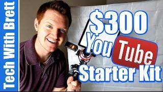$300 YouTube Starter Kit - Lights, Mic, Tripod, Phone Mount, Hot Shoe