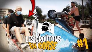On achète le cadeau d'anniv à Lebouseuh avec Michou et Inoxtag - Les Croûtons en Corse ! #1