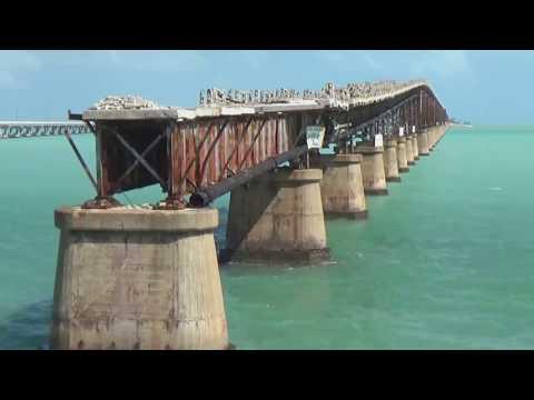 Hurricane Damage to Abandoned Railroad Bridge