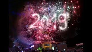 Meriah Pesta Kembang Api Tahun Baru 2019 di Gor Lembu Peteng full