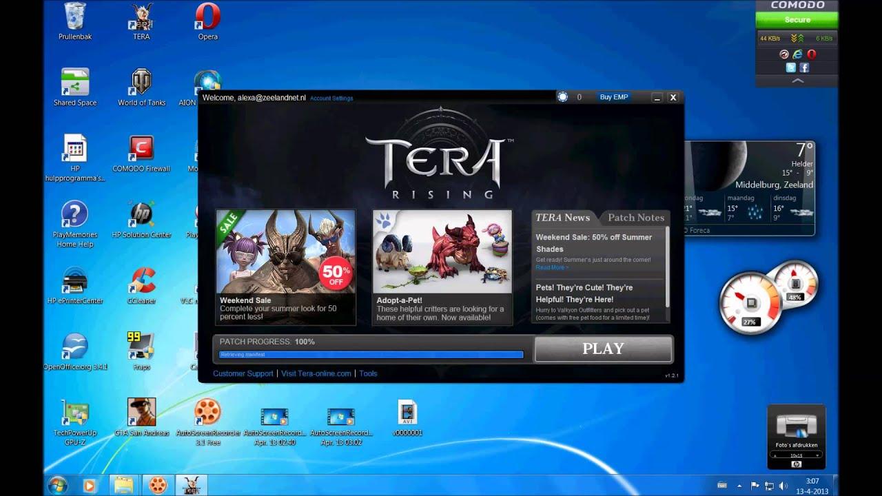 Tera launcher won\u0027t let you hit the button? HD - YouTube