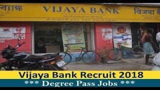 Vijaya Bank Recruitment - Bank Jobs - August Jobs - Apply Online