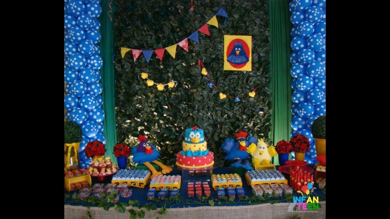 Decoraç u00e3o de Festa da Galinha Pintadinha na Fazenda Infanteen Decoraç u00e3o de Festas YouTube # Decoração De Reveillon Na Fazenda