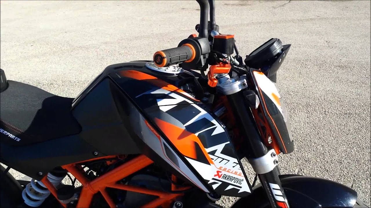 ktm duke 390 full powerparts youtube