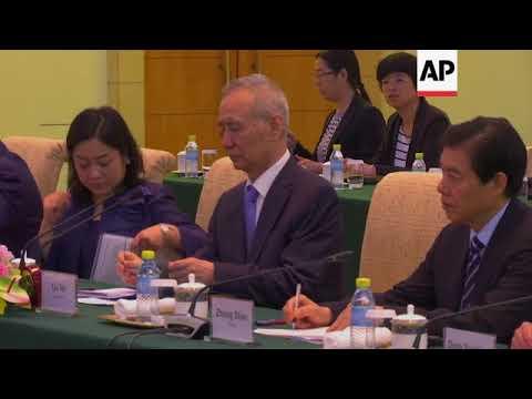 US Secretary of Commerce Wilbur Ross meets Chinese Vice Premier Liu He