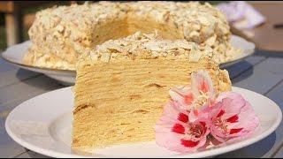 Торт Наполеон классический рецепт с заварным кремом. Наполеон простой рецепт.