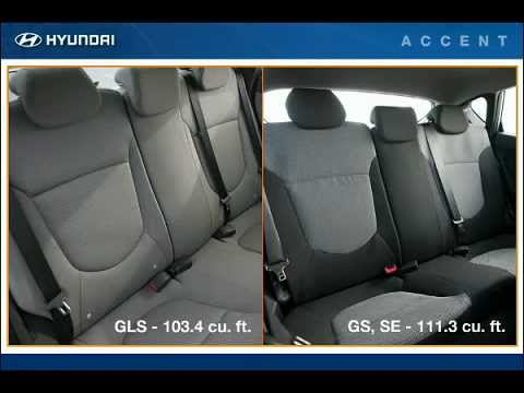hyundai accent rear seat hyundai of slidell youtube. Black Bedroom Furniture Sets. Home Design Ideas