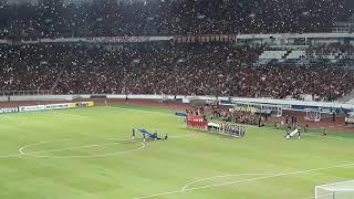 MERINDING dengar lagu INDONESIA RAYA berkumandang di GBK, INDONESIA U19 VS JAPAN U19