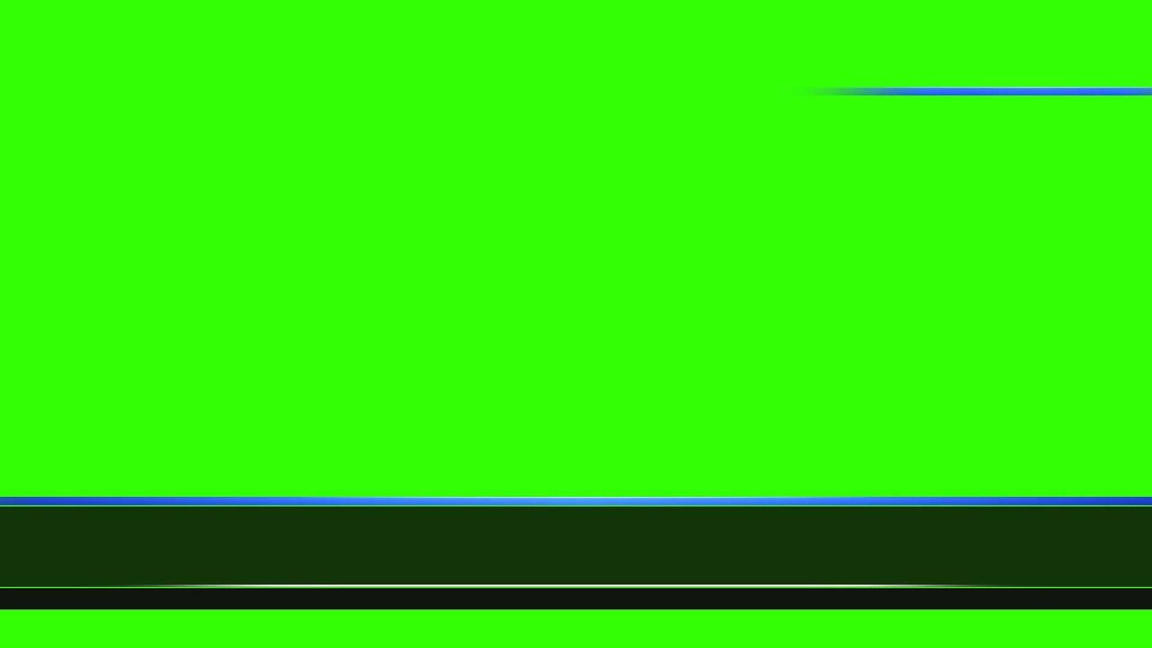green screen banner news blue
