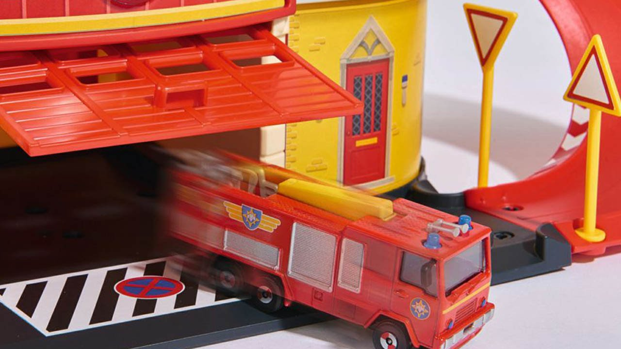 Brandweerman Sam Garage : Fireman sam dickie toys fire rescue centre  youtube