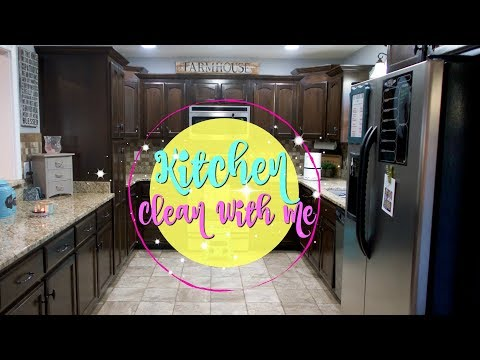 Kitchen Clean With Me/ Cleaning Motivation/Watch Me Clean Wednesday
