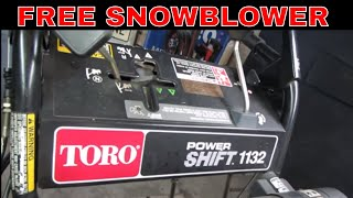 Will IT Run? free snowblower from the junk pile.