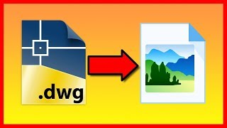 How to convert AutoCAD DWG file to an JPG image - Tutorial