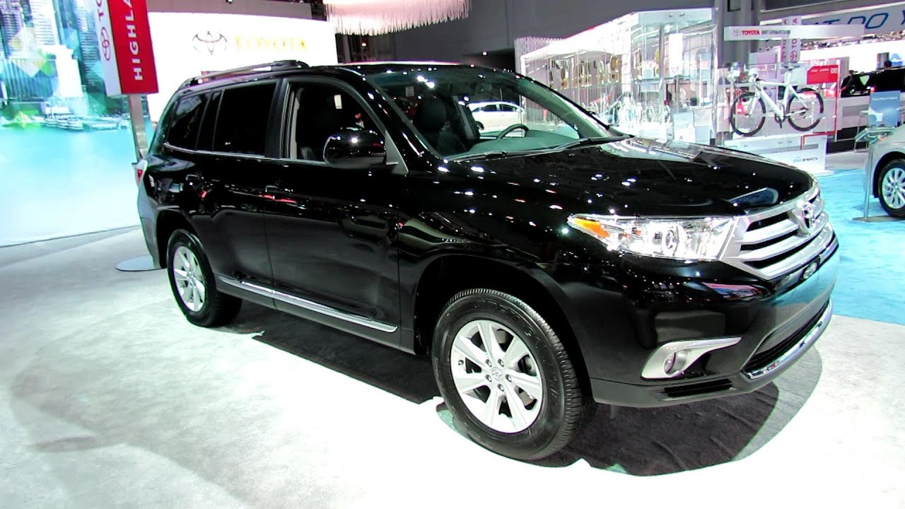 2012 toyota highlander exterior and interior at 2012 new york auto show youtube