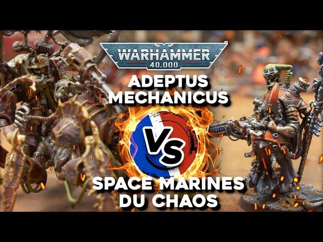 RAPPORT DE BATAILLE WARHAMMER 40.000 - Space Marines du Chaos VS Adeptus Mechanicus