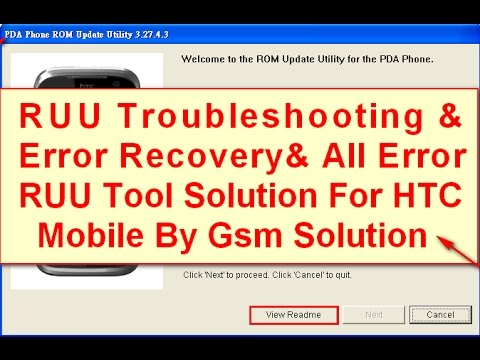 FIX HTC RUU flashing Errors Message & RUU Troubleshooting and Error Recovery