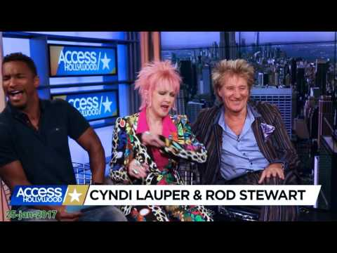 Rod Stewart and Cindy Lauper - TV appearances 25-jan-2017