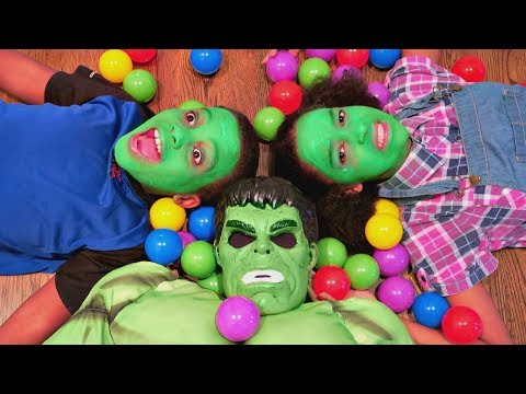 Thumbnail: Bad Baby Hulk vs Real Hulk Food Fight! - Shiloh And Shasha Green Face Grinch Prank - Onyx Kids