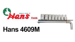 Hans 4609M — набор торцевых головок — видео обзор 130.com.ua