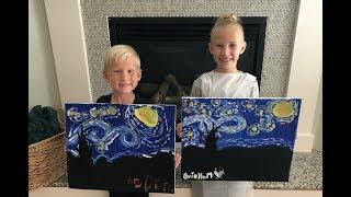 Kids Paint Starry Night! 🎨