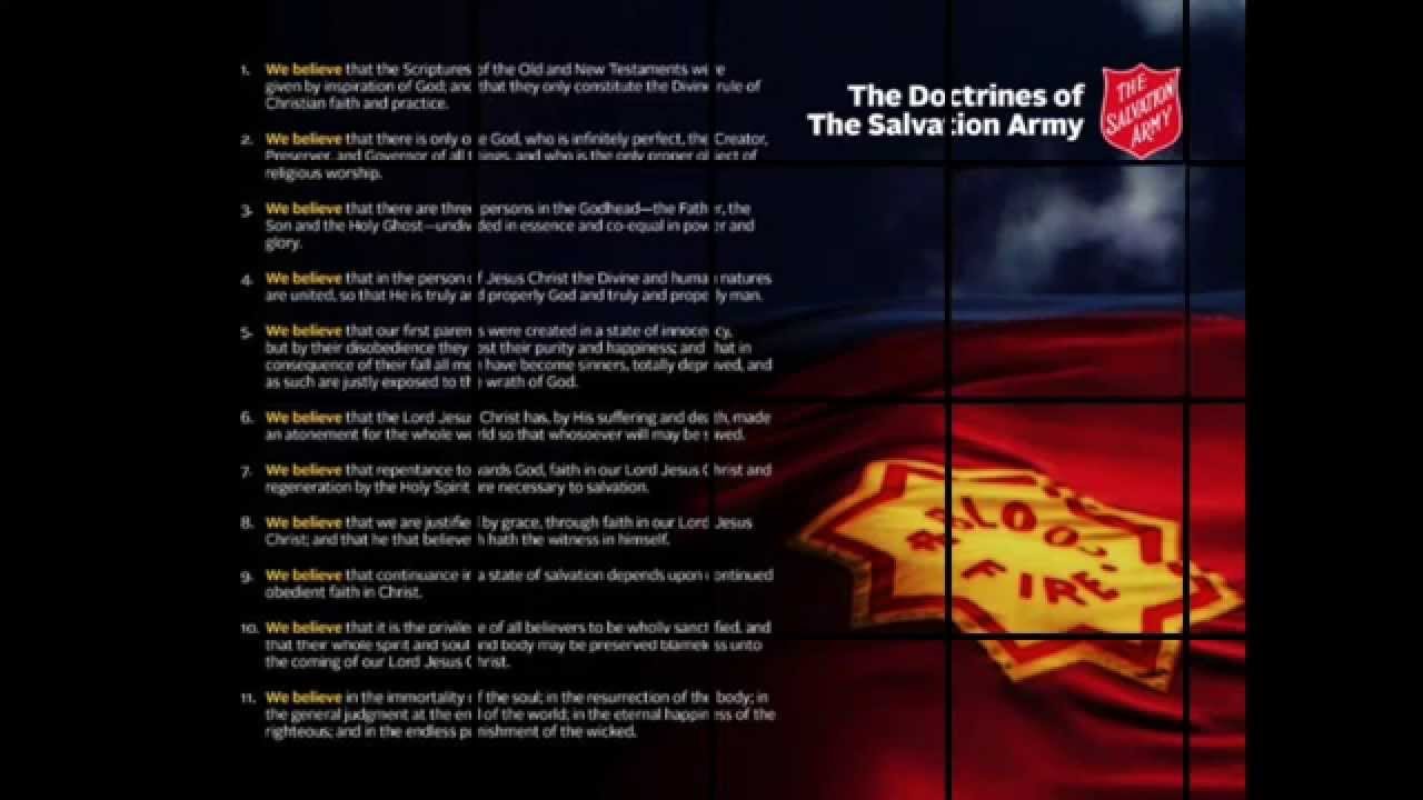 the salvation army doctrines in rap we believe youtube
