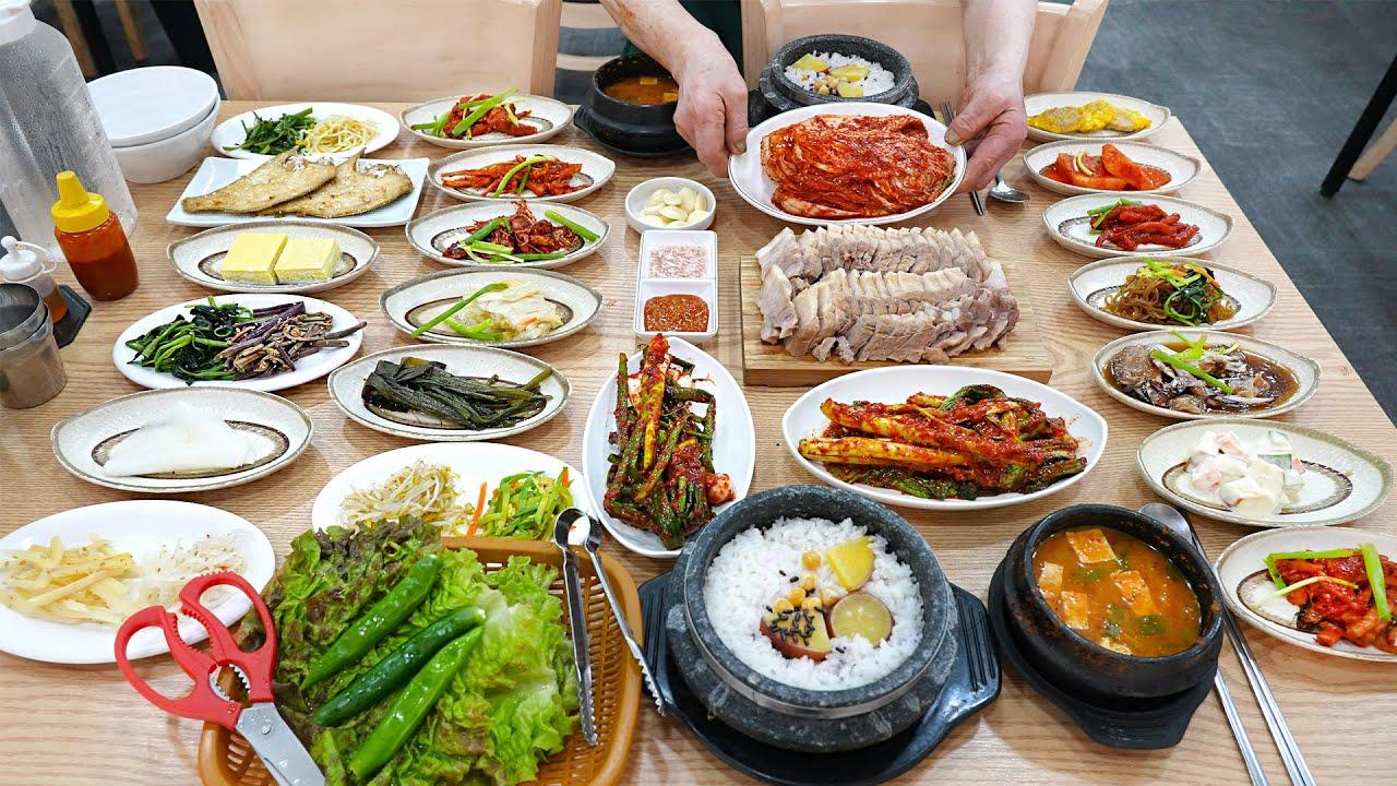 이 가격에 30첩 반상이? 엄청난 보쌈양에 30가지 반찬을 새벽부터 혼자 다 만드시는 74세 할머니┃Korean grandma's $8 meal /Korean street