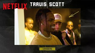 Travis Scott Surprises Fans at Pop Up | Crashers | Netflix