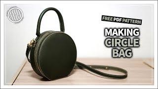 [Leather Craft] Making Circle Bag / PDF Pattern