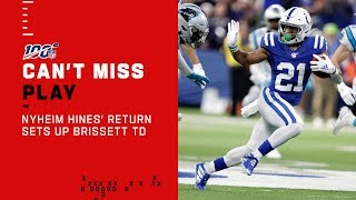 Nyheim Hines' Long Return Sets Up a Jacoby Brissett TD