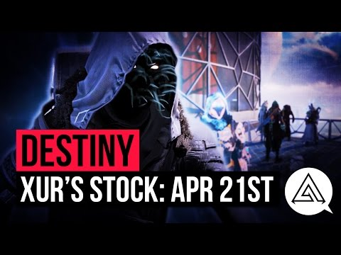 Destiny Xur April 21st - Xur's Location, Exotic Weapon Bundles & Stat Rolls