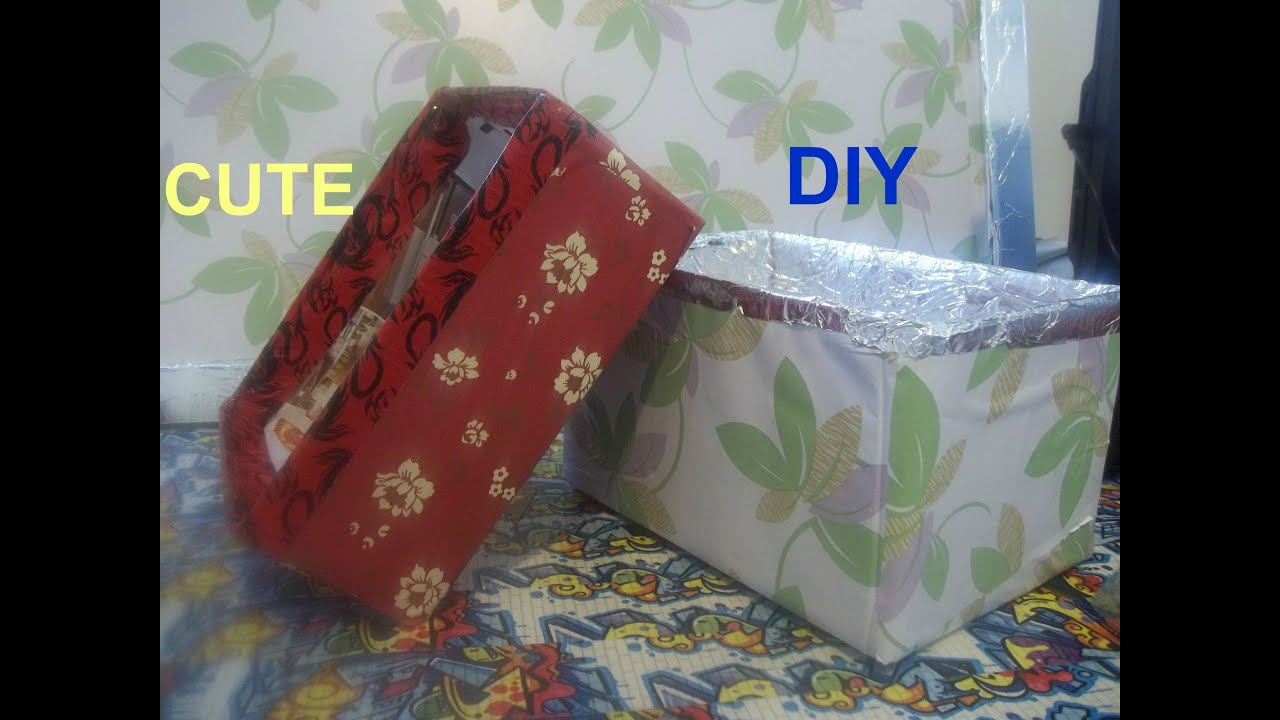How To Make A Cute Storage Box Beautiful Shelf Easy Diy Craft You