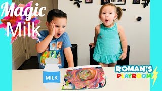 Exciting MAGIC milk easy science experiment for kids /Roman's Playroom