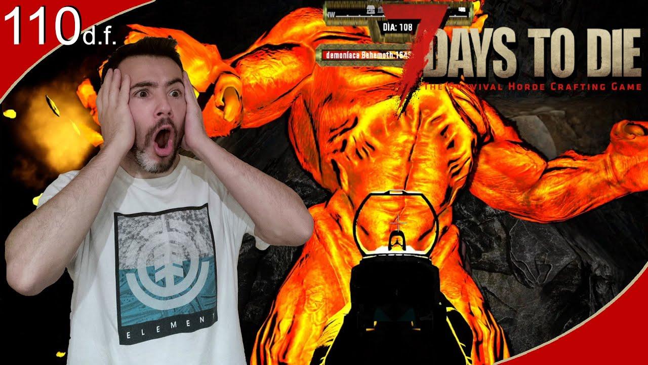 Download Se lía en la super mina de titanio😱     7 Days to Die Darkness Falls #110     Gameplay Español